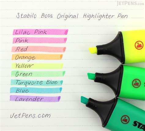 Highlighter Stabilo Pastel Colours stabilo original highlighter yellow jetpens
