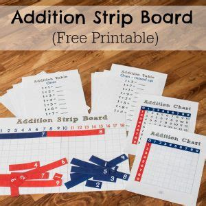 printable montessori addition strip board montessori archives researchparent com