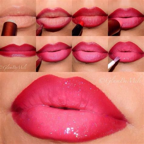 3d tattoo yapimi glossy pink ombre lips i love cute makeup