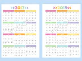 2018 Year At A Glance Calendar Printable Printable A5 Year At A Glance Calendar For 2017 And 2018