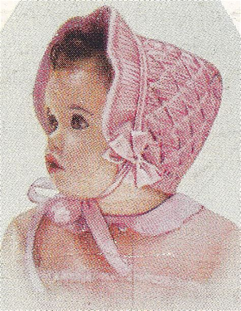 vintage knitting pattern baby bonnet vintage knitting pattern to make baby toddler smocked