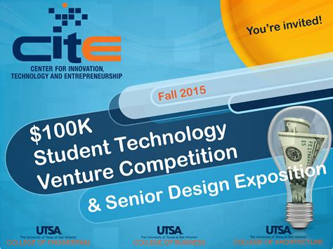 design technology competition upcoming events cite 100k student technology venture