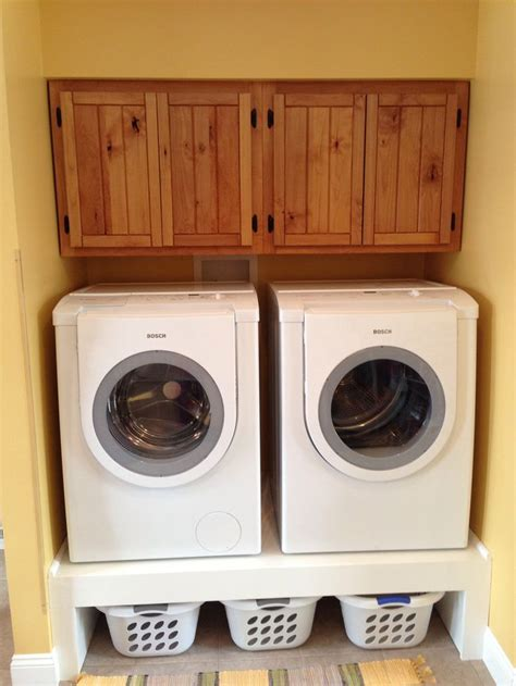 Laundry Room Basket Storage My Cabinets And Storage For Clothes Baskets The Washer Dryer Laundry Mud Room Ideas