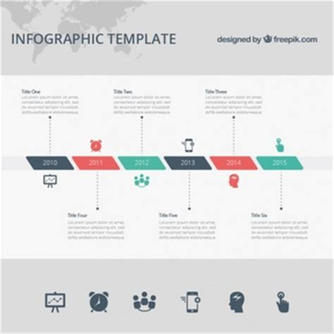 Timeline Vectors Photos And Psd Files Free Download Timeline Design Template