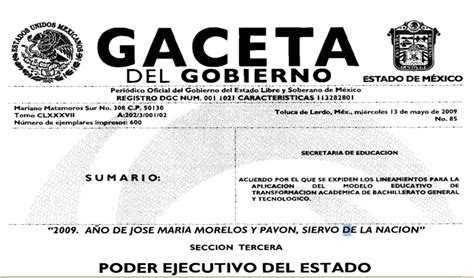 gaceta de verificacion estado de mexico subdirecci 211 n preparatoria of no 37 normatividad