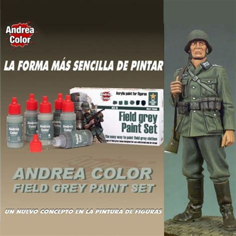Andrea Set by Andrea Color Acs 010 Field Grey Paint Set