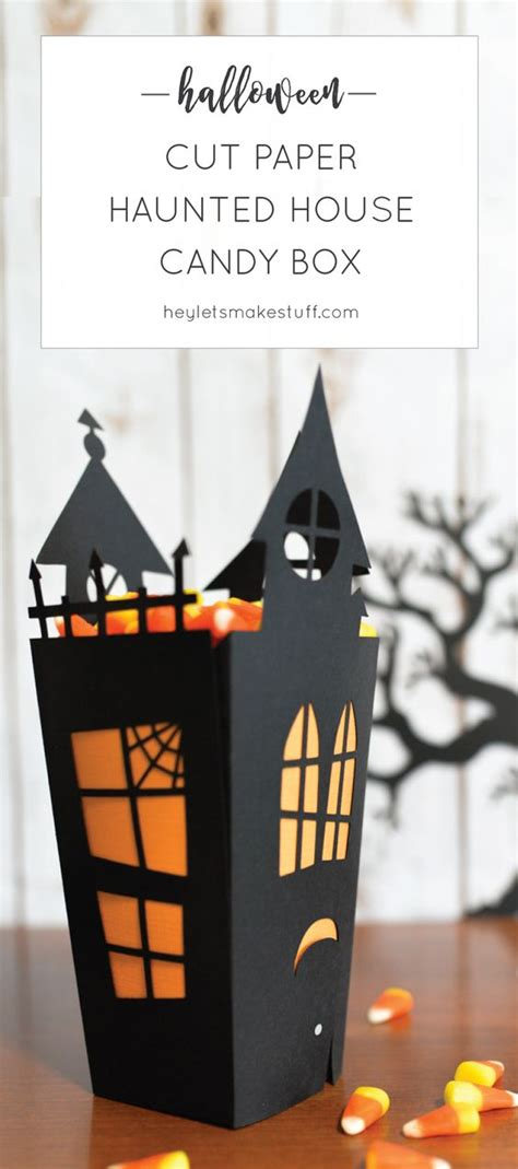 How To Make A Paper Haunted House - haunted houses boxes and cricut on