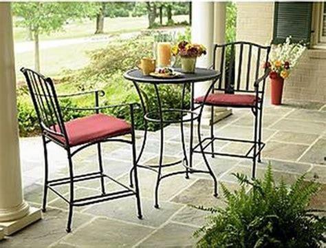 wrought iron patio deck garden furniture bistro set