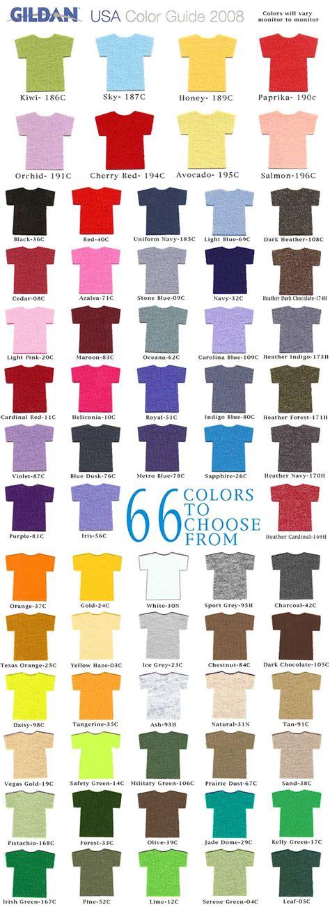 gildan shirt color chart gildan t shirt color chart neiltortorella