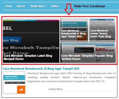 membuat blog full responsive cara membuat postingan slide blog responsive ala johnywuss