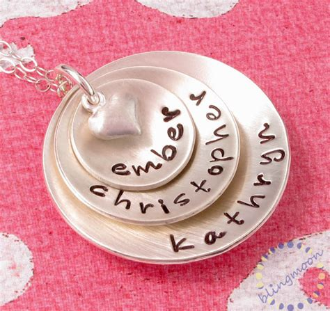 silver discs for jewelry sted jewelry quot personalized sterling silver