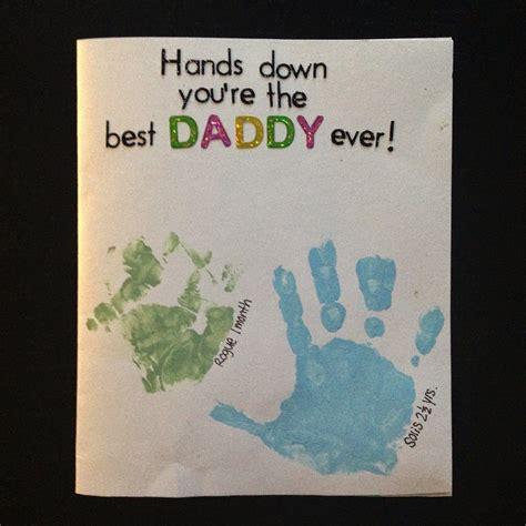 card handprint handprint s day birthday card toddler card for