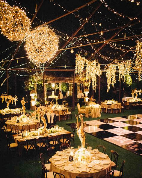 wedding outdoor reception outdoor wedding lighting ideas from real celebrations
