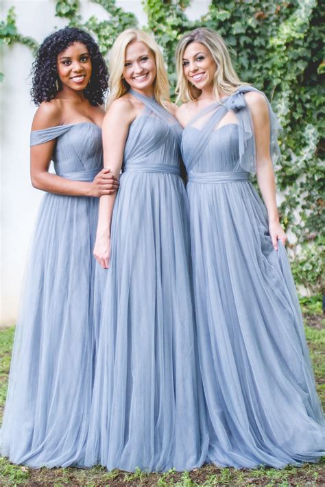 Bridesmaid Dresses For Small Bust - rosalie convertible dress in tulle bridesmaid dresses