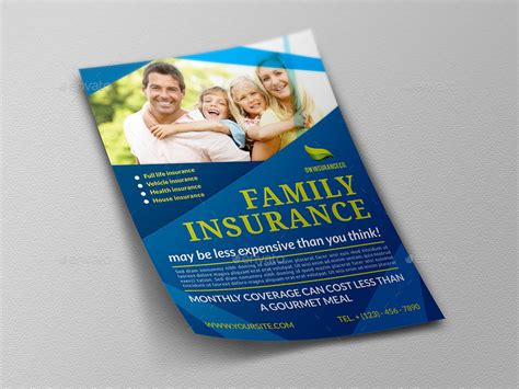 insurance brochure template insurance flyer template by owpictures graphicriver