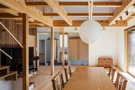 conventional japanese elements meet contemporary style at the cocoon house interior design