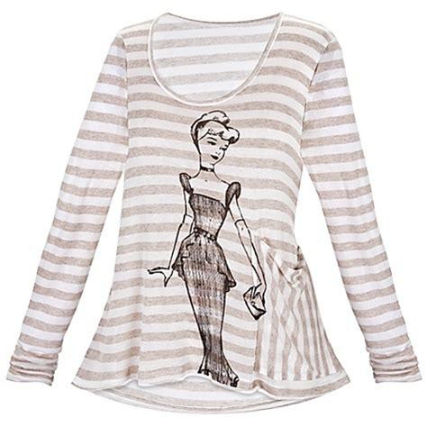 disney princess vintage fashion sleeve striped