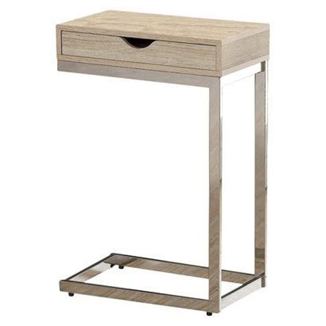 C Table With Drawer by Tables Monarch Metal Accent Table With Drawer