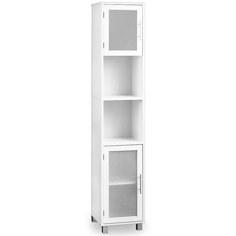 white bathroom cabinet with glass doors bathroom cabinet white with satinised glass doors