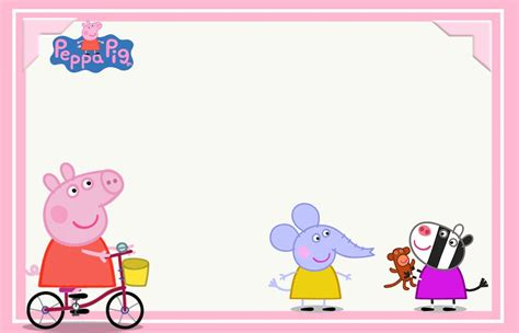 printable images of peppa pig peppa pig and family free printable party kit oh my