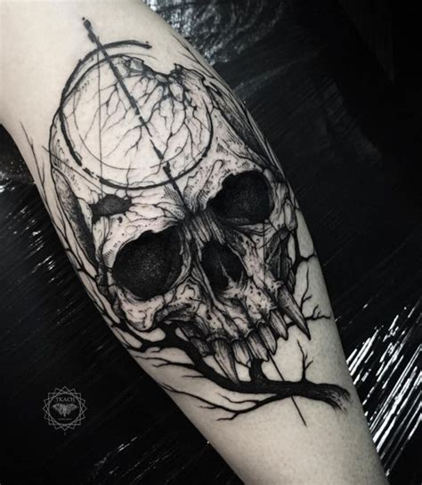 instagram tattoo skull creepy skull and branch tattoo photo instagram tats