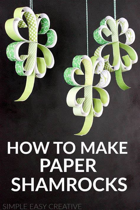 How To Make Paper Shamrocks - st s day craft how to make paper shamrocks