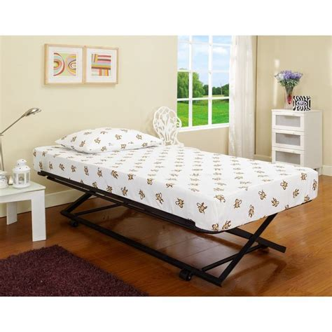 trundle bed pop up roll out pop up steel trundle twin bed twin kid and
