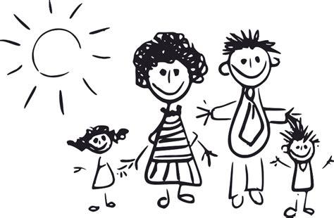 imagenes en blanco y negro de la familia dibujos de familia png imagui