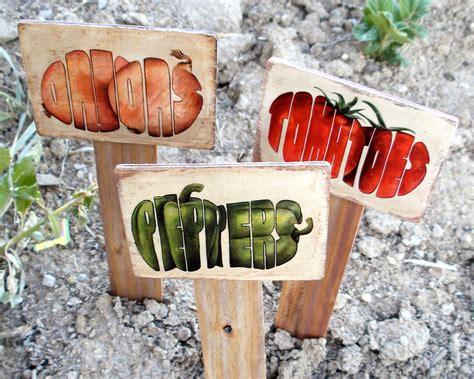 Garden Signs For Vegetables Garden Vegetable Signs Gosik S Garden Signs Vegetables