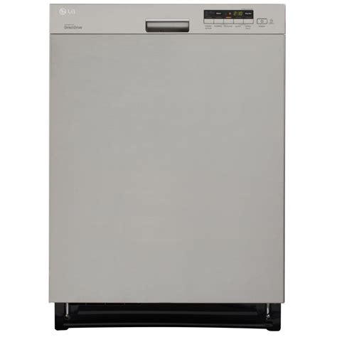 lg electronics front dishwasher in smooth black