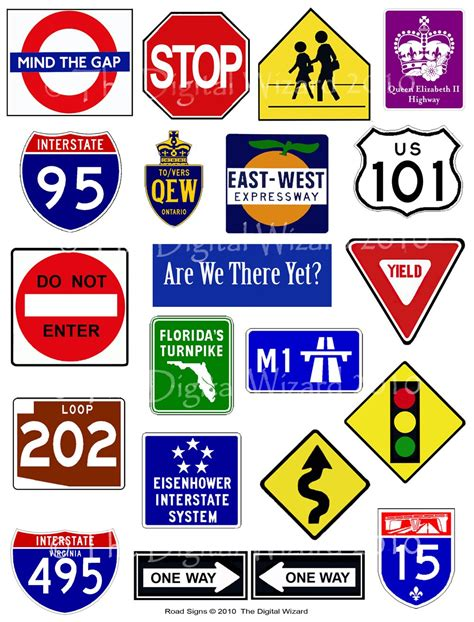 printable road signs 8 best images of custom road signs printable free