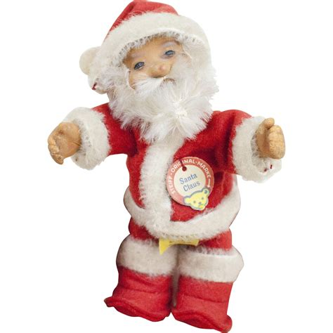 1950s german steiff small size santa claus doll 4 quot sold on