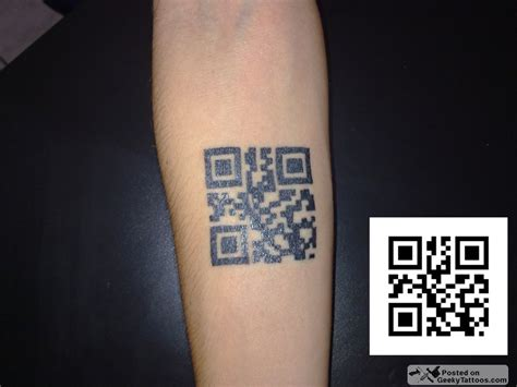 technology tattoos jully s qr code geeky tattoos