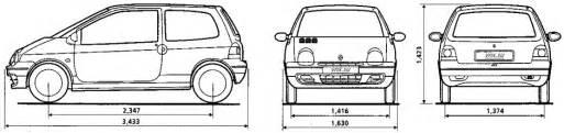 Renault Twingo Dimensions Renault Twingo I