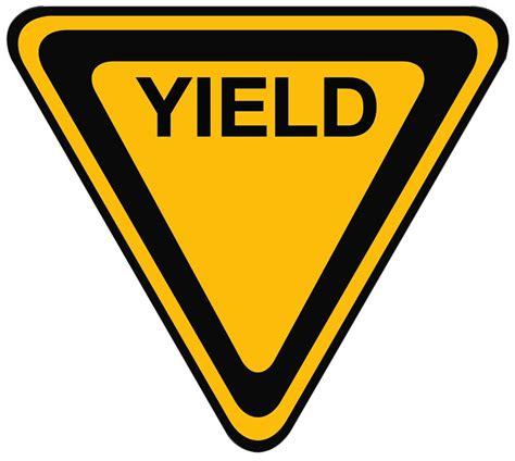 best yield yield sign clipart clipart best