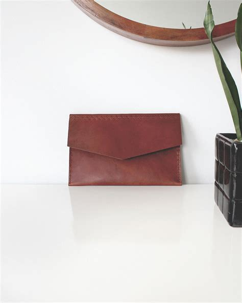 This Envelope Leather Jewelry Portfolio Beautiful Useful And On Sale by Tanned Leather Envelope Clutch Everything Ren