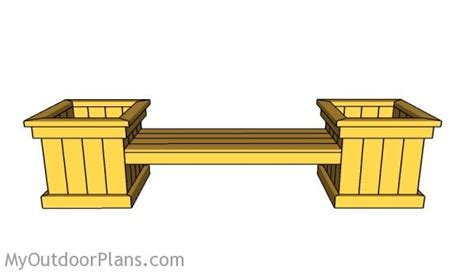 how to make garden bench planter bench plans myoutdoorplans free woodworking plans and projects diy shed