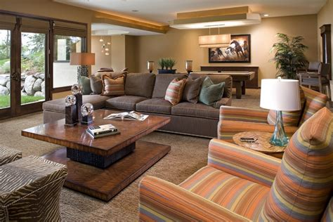 ideas for family room casual and comfortable family room design ideas youtube