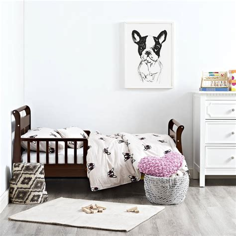 baby relax toddler bed baby relax sleigh toddler bed white brown natural kids furniture bedroom wood ebay