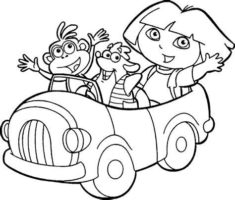 Coloriage Dora L Exploratrice En Voiture 224 Imprimer Colouring Book Kids L