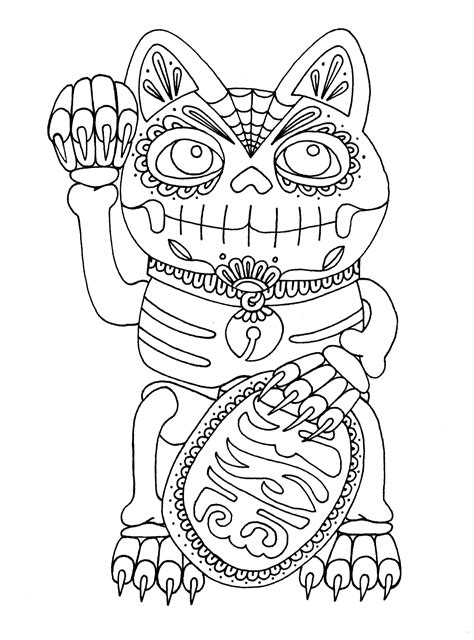 day of the dead cat coloring pages yucca flats n m wenchkin s coloring pages dia de los
