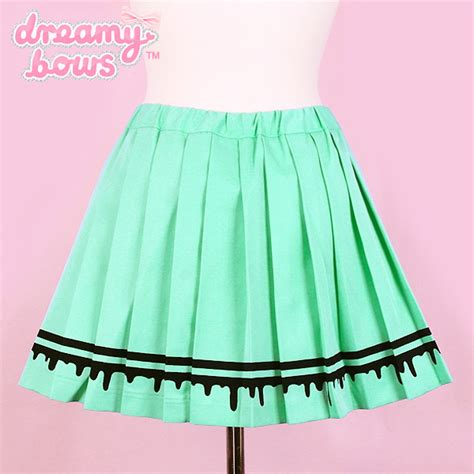 buy listen flavor blood drip pleated skirt mint at
