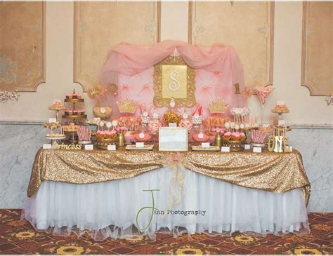 pink and gold princess by treat me sweet buffets
