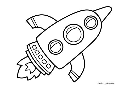Space Coloring Pages To Print Coloring Home Rocket Coloring Page