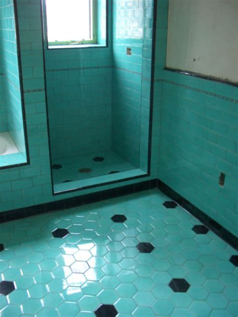 turquoise tile bathroom pretty tile velvet linen