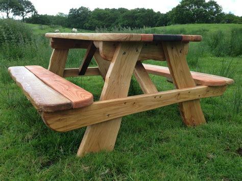 oak picnic bench