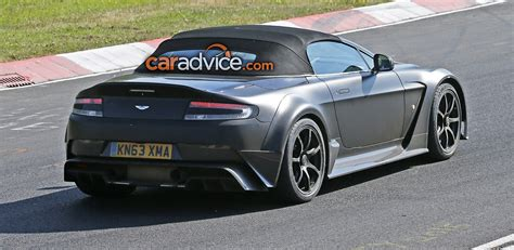 Aston Martin Roadster by Aston Martin Vantage Gt12 Roadster Spied At The
