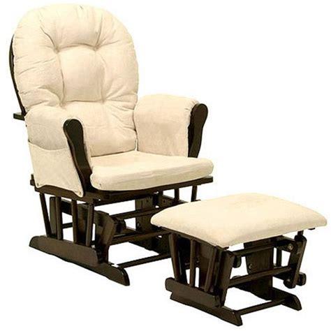 walmart glider chair ottoman storkcraft bowback glider rocker and ottoman espresso