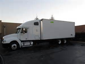 Box Truck With Sleeper For Sale by 2002 Freightliner Columbia Sleeper Cab Strait Truck 24