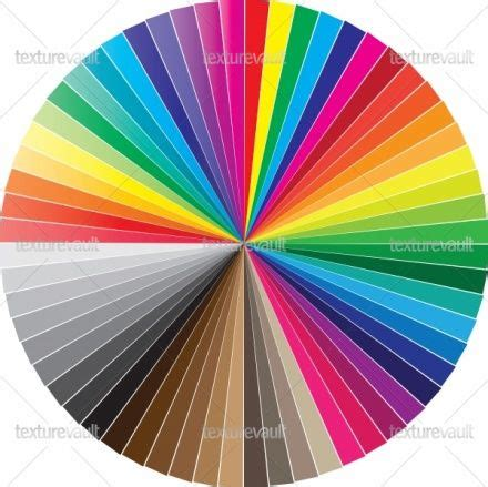 pantone color wheel free pantone color chart color swatches circle royalty